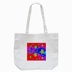 Red Background With A Stars Tote Bag (white)