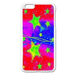 Red Background With A Stars Apple Iphone 6 Plus/6s Plus Enamel White Case