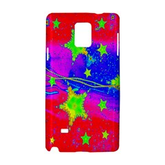 Red Background With A Stars Samsung Galaxy Note 4 Hardshell Case