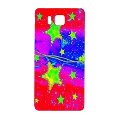 Red Background With A Stars Samsung Galaxy Alpha Hardshell Back Case