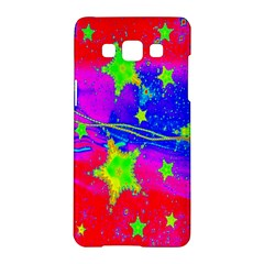 Red Background With A Stars Samsung Galaxy A5 Hardshell Case