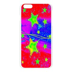 Red Background With A Stars Apple Seamless iPhone 6 Plus/6S Plus Case (Transparent)