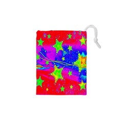 Red Background With A Stars Drawstring Pouches (xs)