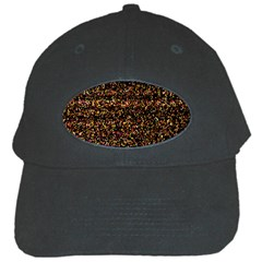 Colorful And Glowing Pixelated Pattern Black Cap