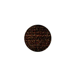 Colorful And Glowing Pixelated Pattern 1  Mini Buttons
