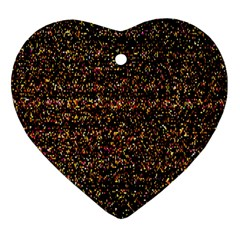 Colorful And Glowing Pixelated Pattern Ornament (heart)