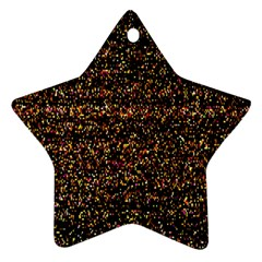 Colorful And Glowing Pixelated Pattern Ornament (star)