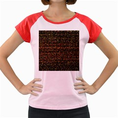 Colorful And Glowing Pixelated Pattern Women s Cap Sleeve T-Shirt