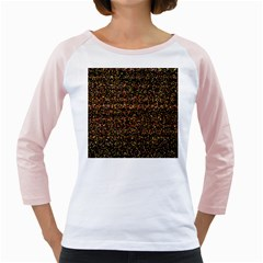 Colorful And Glowing Pixelated Pattern Girly Raglans