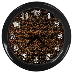 Colorful And Glowing Pixelated Pattern Wall Clocks (black)