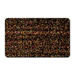 Colorful And Glowing Pixelated Pattern Magnet (rectangular)