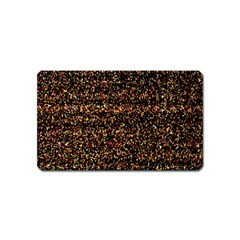 Colorful And Glowing Pixelated Pattern Magnet (name Card)