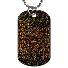 Colorful And Glowing Pixelated Pattern Dog Tag (one Side)