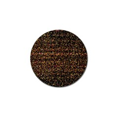 Colorful And Glowing Pixelated Pattern Golf Ball Marker (4 Pack)