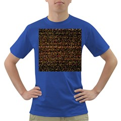 Colorful And Glowing Pixelated Pattern Dark T Shirt