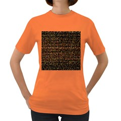 Colorful And Glowing Pixelated Pattern Women s Dark T Shirt