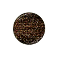 Colorful And Glowing Pixelated Pattern Hat Clip Ball Marker (4 Pack)