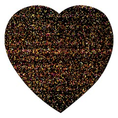 Colorful And Glowing Pixelated Pattern Jigsaw Puzzle (heart)