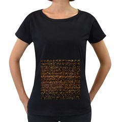 Colorful And Glowing Pixelated Pattern Women s Loose Fit T Shirt (black)