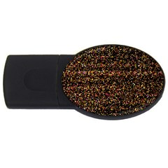 Colorful And Glowing Pixelated Pattern Usb Flash Drive Oval (4 Gb)