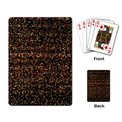 Colorful And Glowing Pixelated Pattern Playing Card