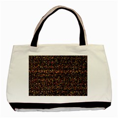 Colorful And Glowing Pixelated Pattern Basic Tote Bag