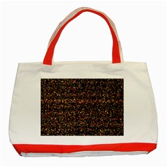 Colorful And Glowing Pixelated Pattern Classic Tote Bag (Red)
