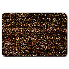 Colorful And Glowing Pixelated Pattern Large Doormat