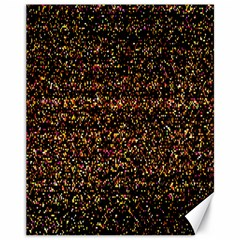 Colorful And Glowing Pixelated Pattern Canvas 11  X 14
