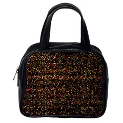 Colorful And Glowing Pixelated Pattern Classic Handbags (one Side)