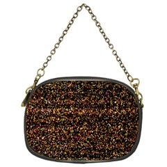 Colorful And Glowing Pixelated Pattern Chain Purses (two Sides)
