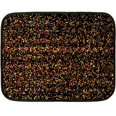 Colorful And Glowing Pixelated Pattern Double Sided Fleece Blanket (mini)