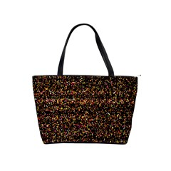Colorful And Glowing Pixelated Pattern Shoulder Handbags