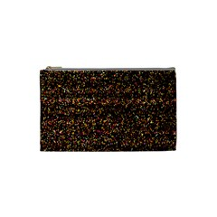 Colorful And Glowing Pixelated Pattern Cosmetic Bag (Small)