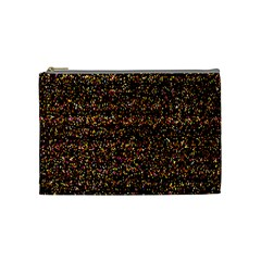 Colorful And Glowing Pixelated Pattern Cosmetic Bag (medium)
