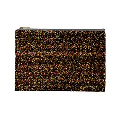 Colorful And Glowing Pixelated Pattern Cosmetic Bag (large)