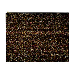 Colorful And Glowing Pixelated Pattern Cosmetic Bag (XL)