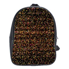 Colorful And Glowing Pixelated Pattern School Bags(large)