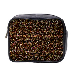 Colorful And Glowing Pixelated Pattern Mini Toiletries Bag 2 Side