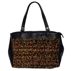 Colorful And Glowing Pixelated Pattern Office Handbags (2 Sides)