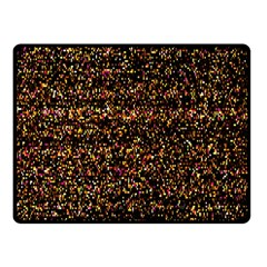 Colorful And Glowing Pixelated Pattern Fleece Blanket (Small)