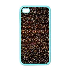 Colorful And Glowing Pixelated Pattern Apple Iphone 4 Case (color)