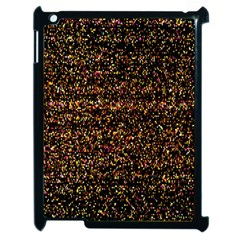 Colorful And Glowing Pixelated Pattern Apple Ipad 2 Case (black)