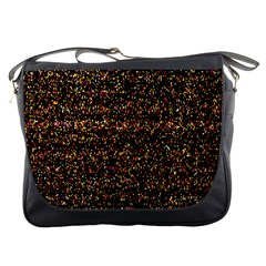 Colorful And Glowing Pixelated Pattern Messenger Bags