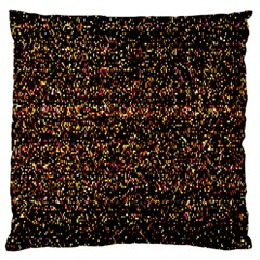 Colorful And Glowing Pixelated Pattern Large Cushion Case (two Sides)