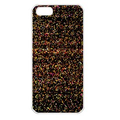 Colorful And Glowing Pixelated Pattern Apple Iphone 5 Seamless Case (white)