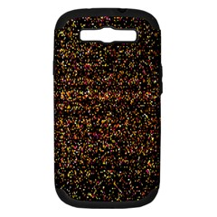 Colorful And Glowing Pixelated Pattern Samsung Galaxy S Iii Hardshell Case (pc+silicone)