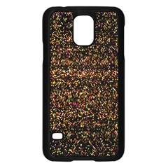 Colorful And Glowing Pixelated Pattern Samsung Galaxy S5 Case (black)