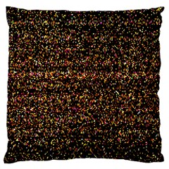 Colorful And Glowing Pixelated Pattern Large Flano Cushion Case (one Side)