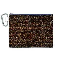 Colorful And Glowing Pixelated Pattern Canvas Cosmetic Bag (xl)